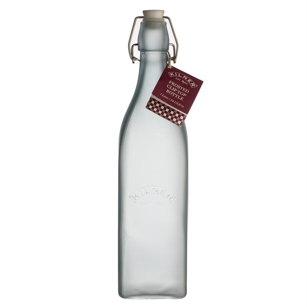 Amazon.com: Kilner Frosted Glass Clip Top Bottle Designed to Preserve Oils and Juices, Traditional Swing Locking System Logo, Variety Sizes and Colors, ...