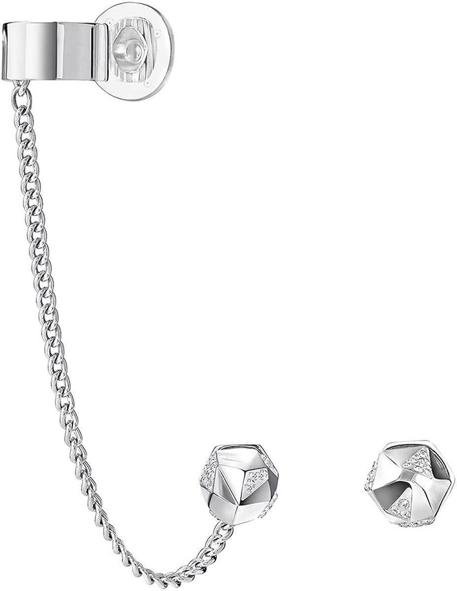 Swarovski 5226178 - Pendientes con cristales transparentes de talla redonda