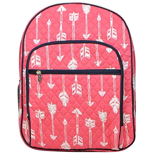 NGIL Quilted Dual Compartment Laptop School Backpack (Arrow Coral)