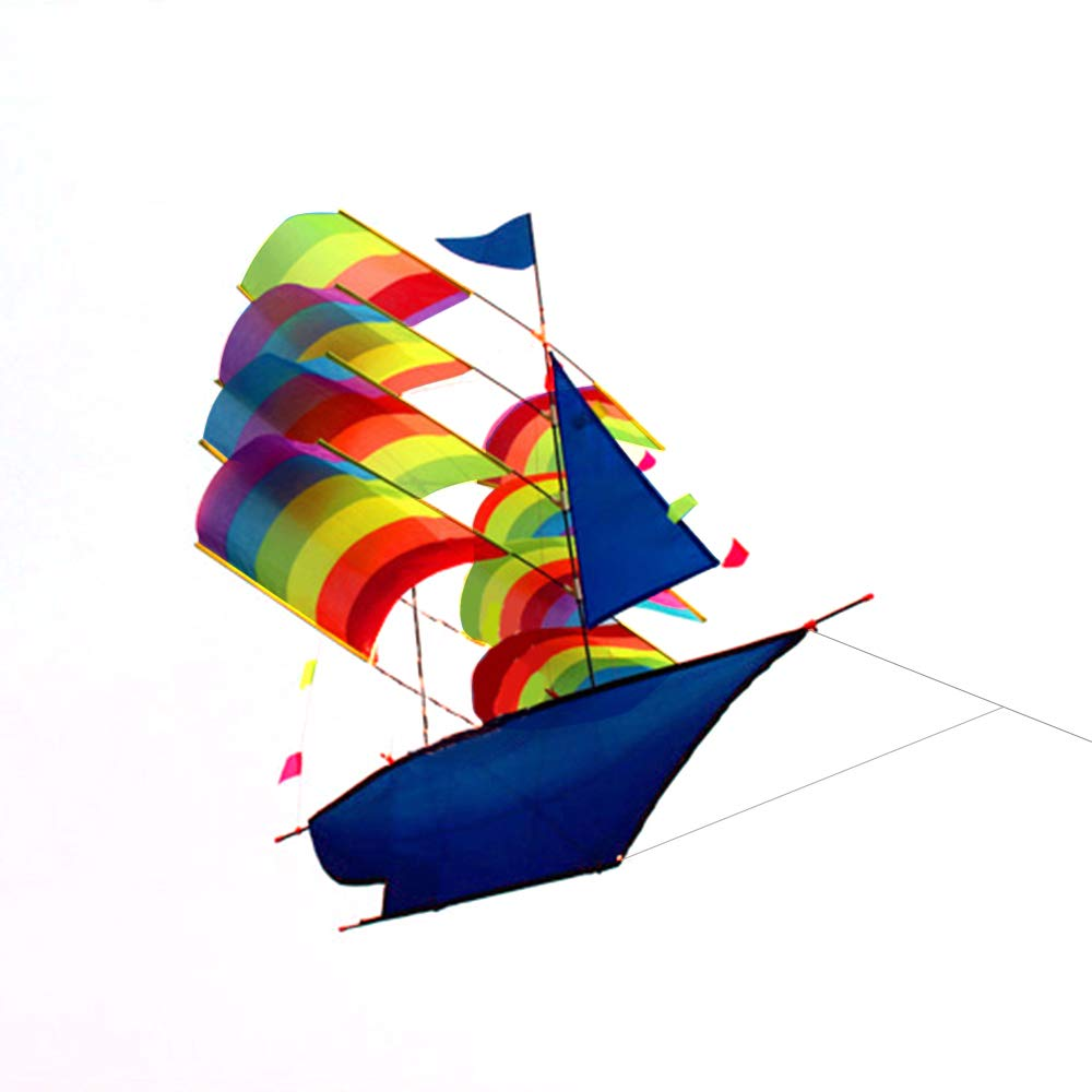 Lixada Sailboat Kite for Kids and Adults Sailing Boat Flying 3D Kite with String and Handle Outdoor Beach Park Sports Fun by Lixada