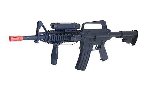 Amazon Com M16a4 Airsoft Rifle With Led Illuminator Laser Sight