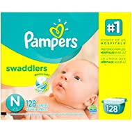 Pampers Swaddlers Diapers, Size N, Giant Pack, 128 Count...