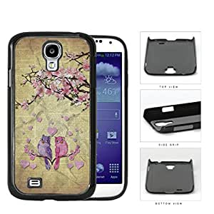 Cute Pink Love Birds With Cherry Blossom Tree Hard Plastic Snap On Cell Phone Case Samsung Galaxy S4 SIV I9500