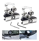 #6: AutoTime Pillar Hood Mount Bracket,2PCS Universal Stainless Steel Led Work Light Bar Clamp Holder for Offroad SUV Truck Sedan Hatchback Wagon installing without drilling
