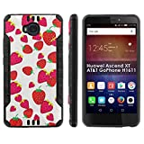 "[Mobiflare] Huawei Ascend XT [AT&T H1611] Shock Proof Armor Phone Cover [Black/Black] Defender Protective Case - [Strawberries] for Huawei Ascend XT [AT&T GoPhone H1611] [6"" Screen]"