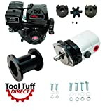Tool Tuff Log Splitter Build Kit - 15 hp Electric-Start Engine, 28 GPM Pump, Coupler & Hardware