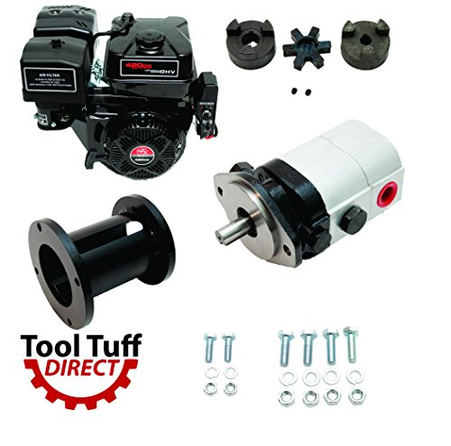 Tool Tuff Log Splitter Build Kit - 15 hp Electric-Start Engine, 28 GPM Pump, Coupler & Hardware by Tool Tuff
