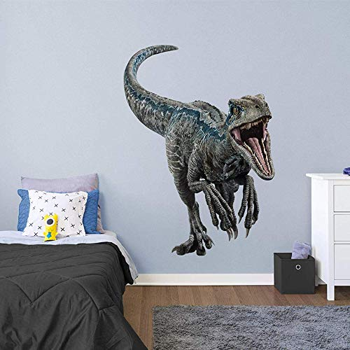 FATHEAD Velociraptor Blue - Jurassic World: Fallen Kingdom - Giant Officially Licensed Removable Wall Decal - Fathead Wall Sticker