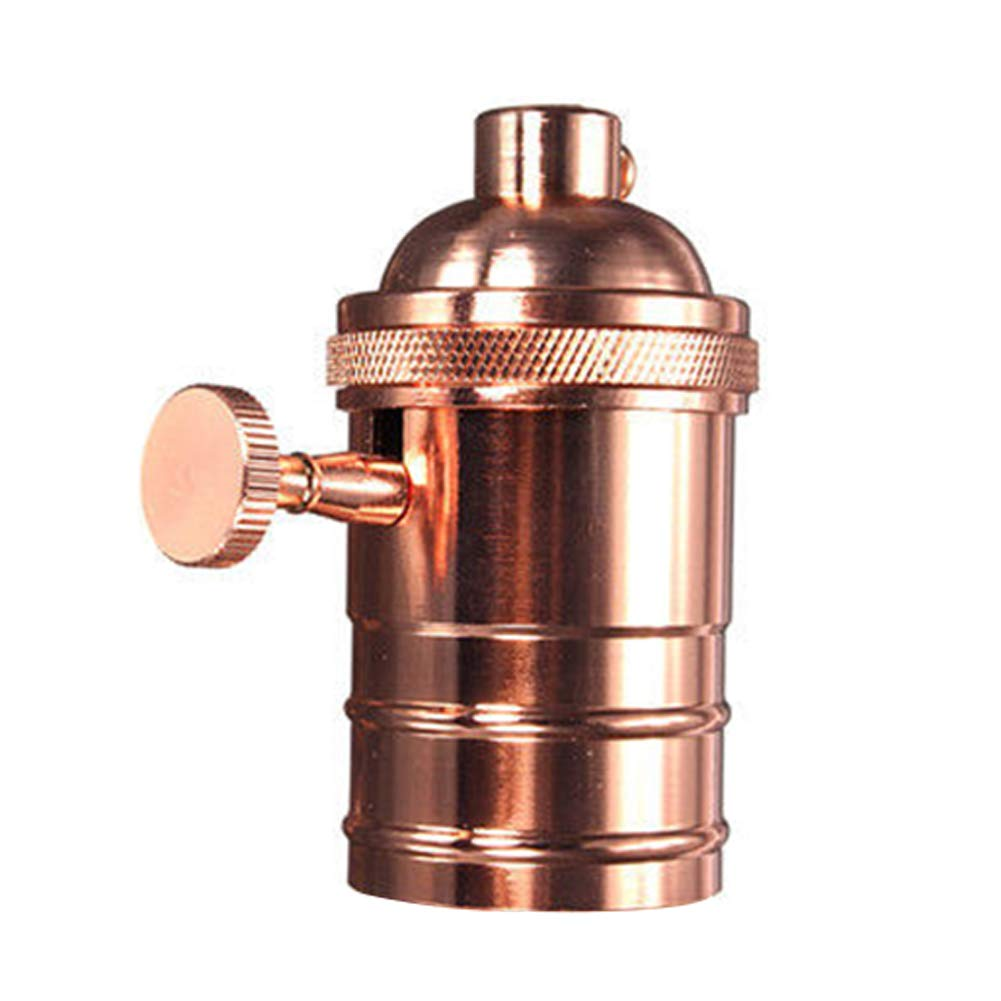 Casquillo para bombilla de lat/ón E26//E27 250.0V estilo retro, estilo antiguo, Edison, cobre lat/ón envejecido