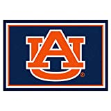 NCAA Auburn University 5 x 8 Rug, 60'' x 92''/Small, Black