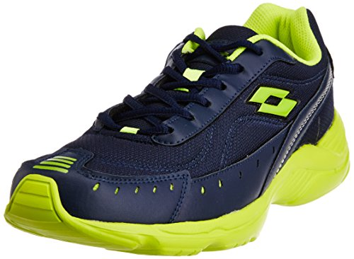 Lotto Men's Rapid Navy and Light Green Mesh Running Shoes - 6...