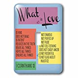 3dRose TNMGraphics Scripture - What Is Love Scripture Corinthians 13 - Light Switch Covers - single toggle switch (lsp_286318_1)