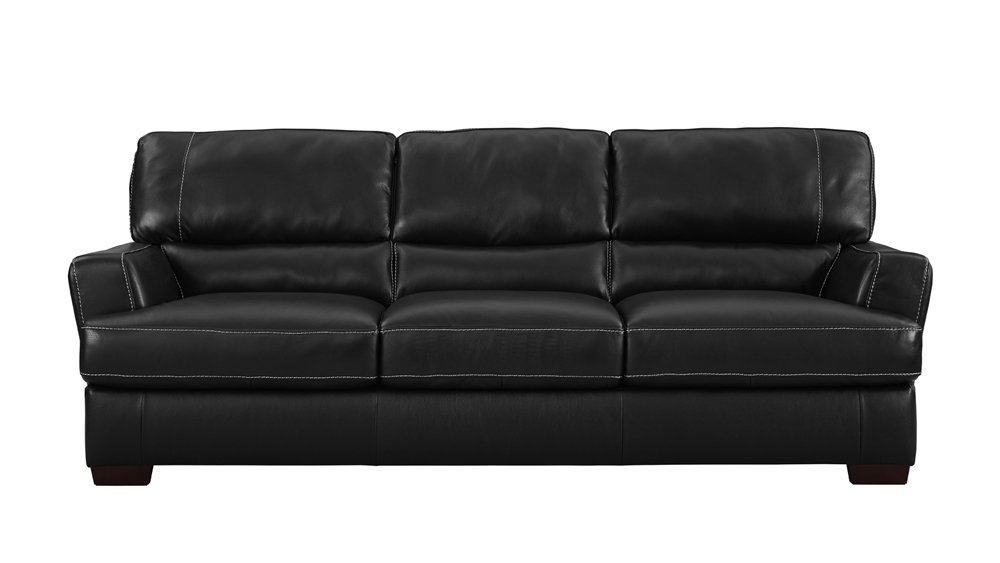 how to tell real leather couch
