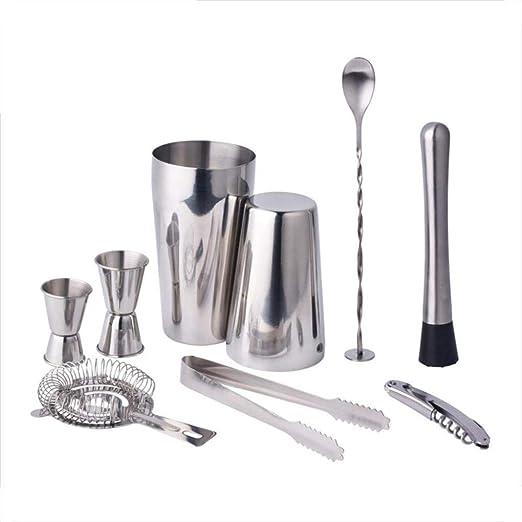 9 piezas de cóctel Professional Premium making acero inoxidable ...