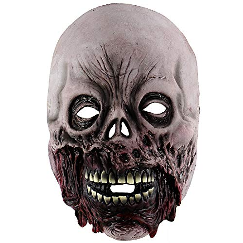 Xiao Chou Ri Ji Halloween Latex Mask Scary Zombie Costume Role as a Prop Mask]()
