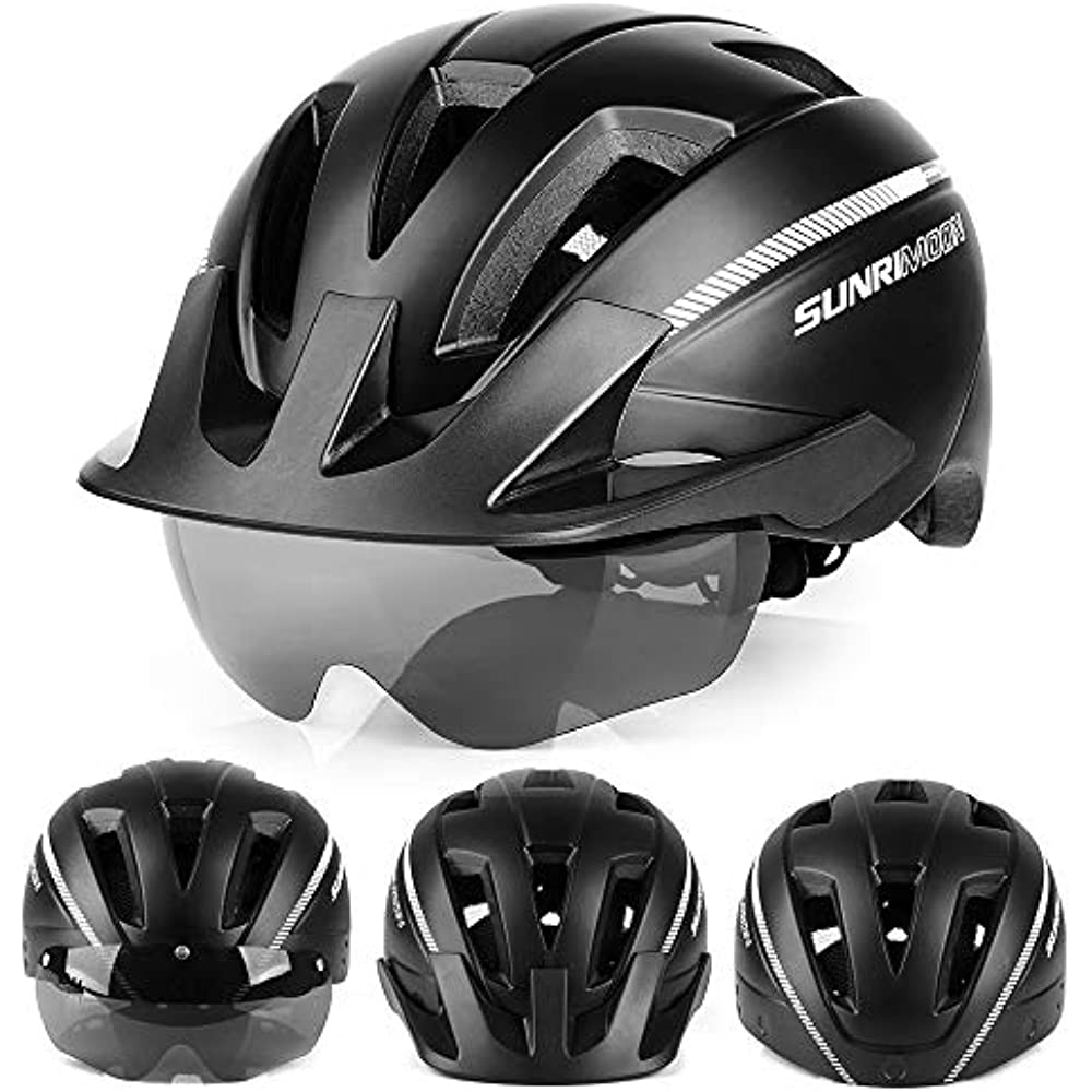 CPSC Certified Road ... SUNRIMOON Adult Bike Helmet with Rechargeable USB Light