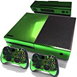 Gam3Gear Decals Skin Vinyl Sticker for Xbox ONE Console & Controller – Green Glossy For Sale