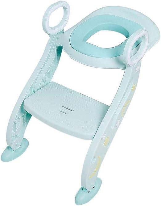 Asiento de inodoro de entrenamiento for ir al baño for niños con escalera de taburete, silla