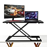 Standing Desk – Height Adjustable Desk Converter – Instantly Convert any desk to a Sit Stand Up desk Review
