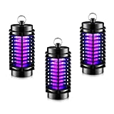 Bearant Black Mosquito Zapper Lamp – 100% Effective 1 Watt UV Mosquito Light in an ABS Body, No Chemicals Needed. Perfect for Indoor and Outdoor Use. 3 Pack