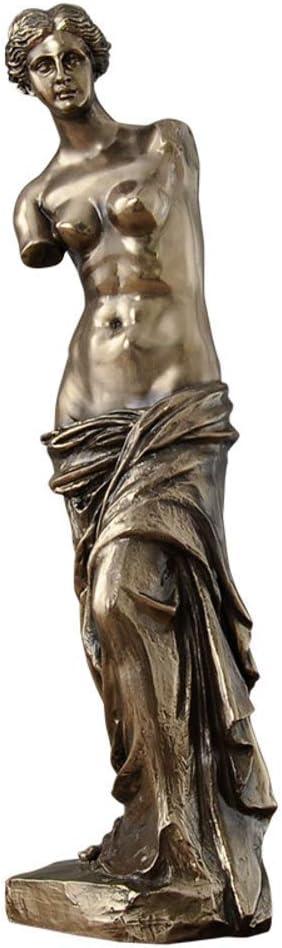 LIUSHI Art Sculpture,Venus De Milo Replica Statue from The Louvre,Crafts Statuette Museum-Grade Masterpiece Replica-Bronze 11x10x43cm(4x4x17inch)