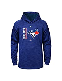 Toronto Blue Jays Youth On-Field Team Icon Streak Pullover Fleece Hoodie