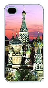 iPhone 4S Cases and Covers,Kremlin Building Custom Slim Hard Case Snap-on PC Plastic Case Cover Shell for Apple iPhone 4S/4 White