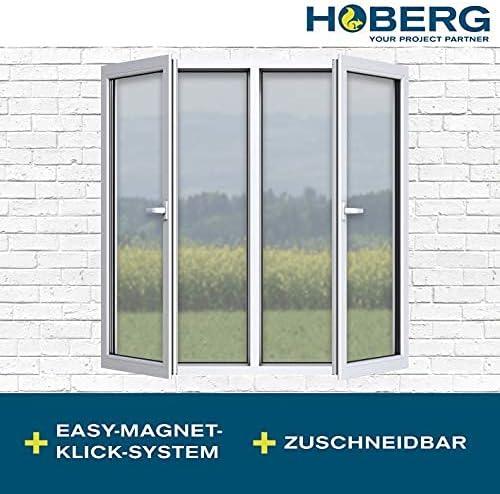 Hoberg Mosquitera con innovadora fijación magnética para la ventana