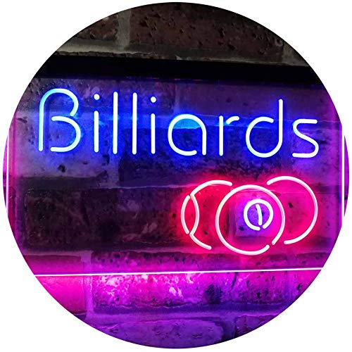"ADVPRO Billiards 9 Ball Game Room Pool Snooker Décor Man Cave Dual Color LED Neon Sign Blue & Red 12"" x 8.5"" st6s32-i2590-br"