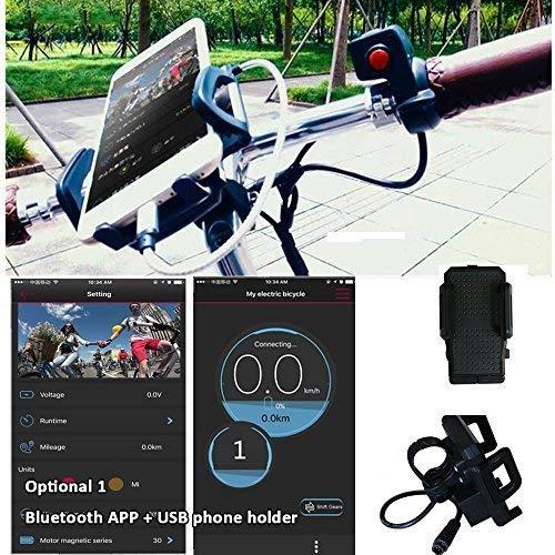 Controlador de motor a batería, todo en un juego de conversión en la rueda delantera de la bicicleta eléctrica 36 V 240 W con recargable USB teléfono ...
