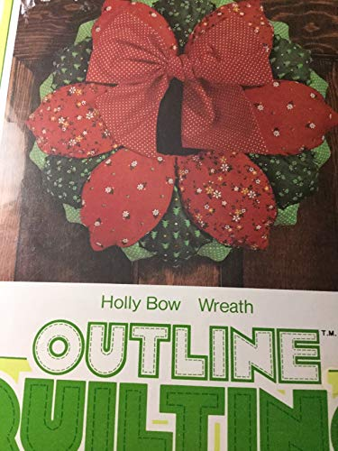 Holly Bow Wreath Quilting Kit