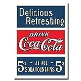 fine accent wall colours Trademark Fine Art Soda Fountain by Coca-Cola 24x32-Inch