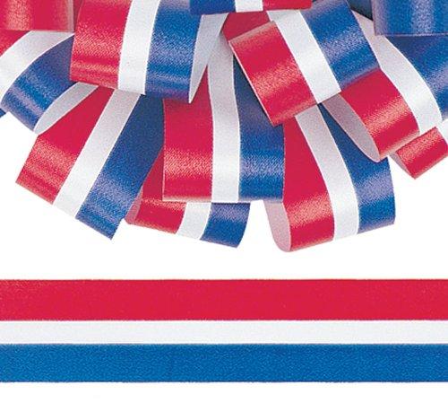 Burton & Burton Berwick #9 Patriotic Stripe Flora-Satin Ribbon 1.5