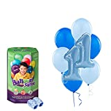 Boys 1st Birthday Blue Party Supplies Latex Balloons and Helium Tank