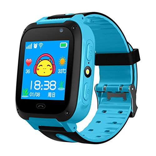 osierr6 - Reloj Inteligente con Podómetro, Impermeable, Visualización Táctil, GPS Tracker, con Cámara SIM, Anti-Pérdida,...