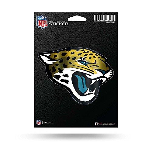 Rico Industries NFL Jacksonville Jaguars Die Cut Metallic StickerDie Cut Metallic Sticker, Blue, 5.75 x ()