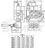 Monoblock Hydraulic Directional Control Valve, 5