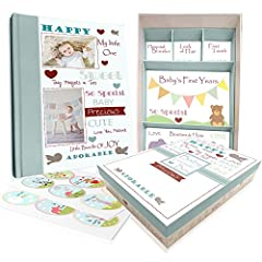 Cherish a lifetime of memories with Next Mommy's Baby Memory Book With Keepsake Box & Milestone Stickers.Capture and preserve every precious moment from when you found out you were expecting all the way up until your baby is 5 years old. ...