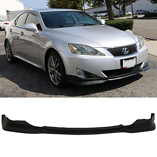 Front Bumper Lip Fits 2006-2008 Lexus IS250 IS350 | F-Sport Style Black PU Splitter Spoiler Valance Chin Diffuser by IKON MOTORSPORTS | 2007