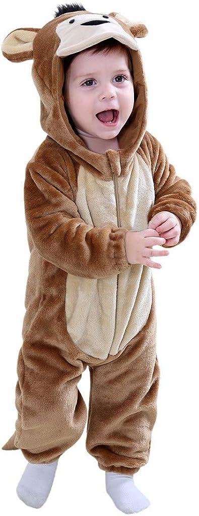 Baby Toddler Cute Animals Cosplay Boys Girls Cute Cartoon Pajamas Bodysuit Romper YESOT Fashion Unsex Jumpsuit