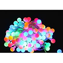 100 LED String Lights, KEEDA Waterproof 32.8ft/10m USB Charging Led Ball Lights Color Changing with Flashing Decorative Lighting for decor