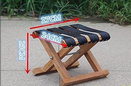 Zll legno massello mazar outdoor sgabello portatile pieghevole panca