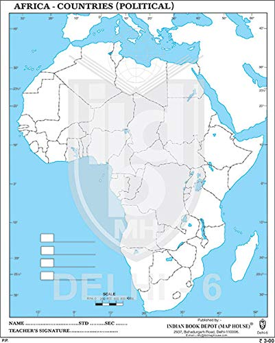 africa political map blank Buy Big Outline Practice Map Of Africa Political 100 Maps Book africa political map blank