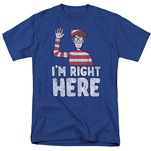 Where's Waldo I'm Right Here Unisex Adult T Shirt for Men and Women