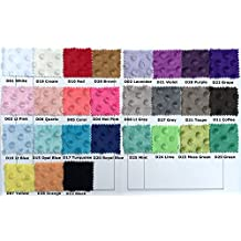 minky fabric For DIY sewing fabric white color Sold By Meter 27 Colors In Stock.