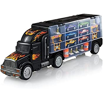 Amazon Com Toy Truck Transport Car Carrier Toy Truck Includes 6