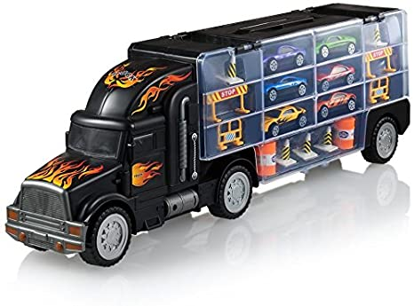 Car Carrier Truck >> Amazon Com Play22 Toy Truck Transport Car Carrier Toy Truck