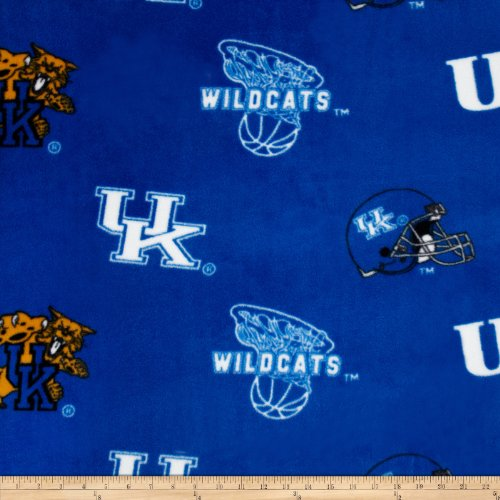 Sykel Enterprises 0317695 Collegiate Fleece University of Kentucky Fabric by The Yard, Blue
