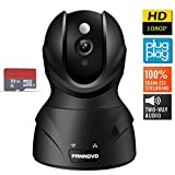 PANNOVO 1080P Wireless Wifi Security Camera-Home IP Video Monitoring Surveillance Camera Systemwith Night Vision Pan/Tilt ,Cloud Storage Service with 32GB Card