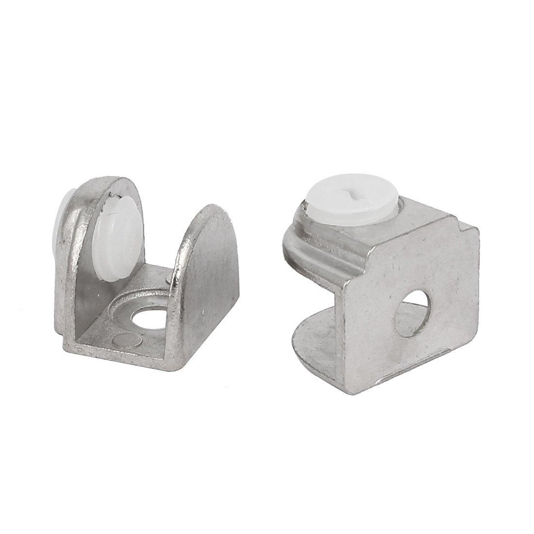4mm-8mm dicke halbe Runde Glas Klemme Halbkreis Klammer Halter silbern de sourcingmap/® 20Stk